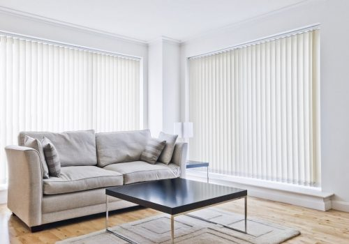 A gorgeous set of vertical blinds installed by our team.